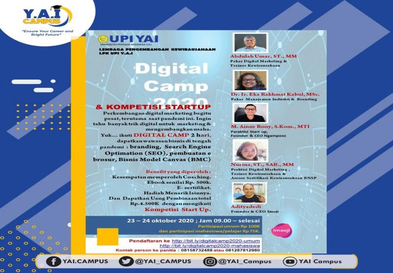 Digital Camp & Kompetensi Start Up 2020