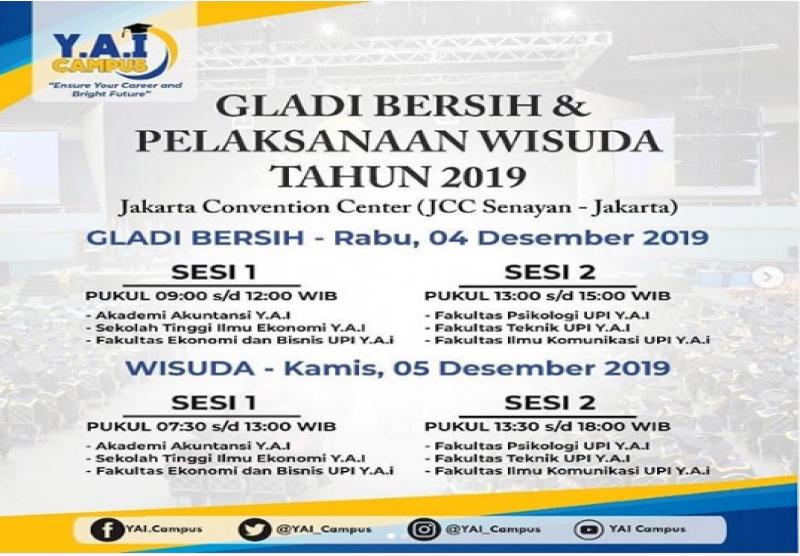 Gladi Bersih & Pelaksanaan Wisuda Tahun 2019