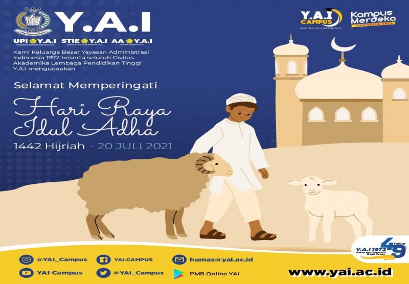Selamat Memperingati Hari Raya Idul Adha 1442 Hijriah - 20 Juli 2021