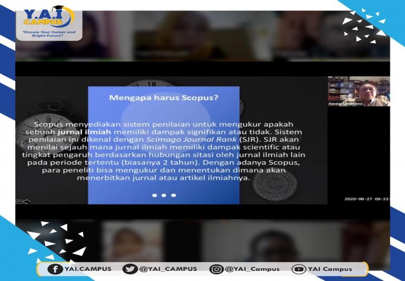 Webinar Fakultas Ekonomi Dan Bisnis Upi Y A I Mengenal Lebih Jauh Index Scopus Yayasan Administrasi Indonesia