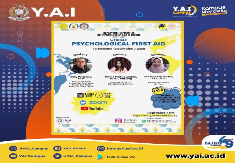 Webinar Psychological First Aid