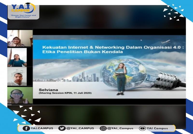 webinar sharing session bertema kekuatan internet dan networking dalam organisasi 4.0.