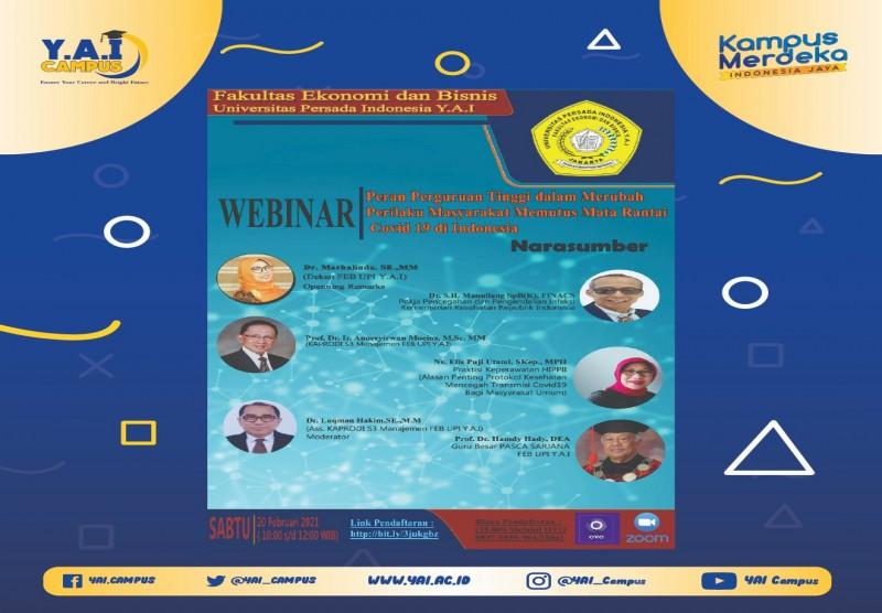 """Workshop """"Peran Perguruan Tingi dalam Merubah Perilaku Masyarakat Memutus Mata Rantai Covid 19 di Indonesia"""""""