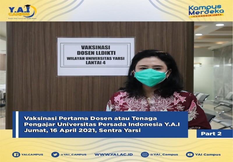 Vaksinasi Dosen LLDIKTI Dalam Rangka Pembukaan Pembelajaran Tatap Muka (PTM)
